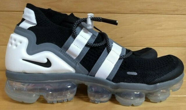 huge discount 9418a 9fc4d Nike Air Vapormax FK Flyknit Utility Black Cool Grey White Ah6834 003 Size  10