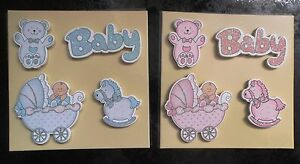 Baby-Embellishments-Toppers-Motifs-Cute-Wooden-Quality-various-glitter-styles