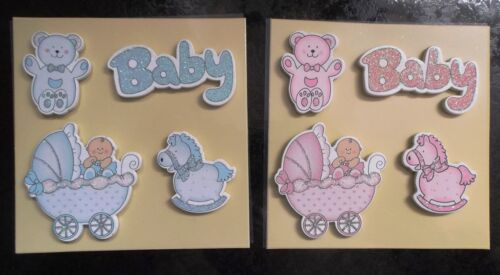 Baby Embellishments Toppers Motifs Cute Wooden Quality various glitter styles