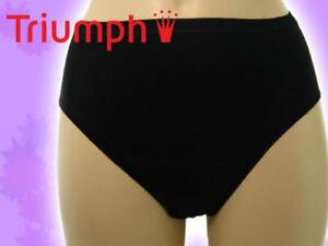 lingerie culotte 6X Slip Basics Triumph femme Maxi Katia coton Gr 40 noire pwFav