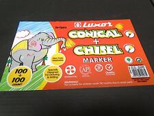Conical & Chisel Tipped Washable Non Toxic Colour Markers Classpack 200 Luxor