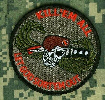 AFSOC COMBAT CONTROL TACP DEATH from ABOVE SHOULDER burdock PATCH KILL /'EM ALL