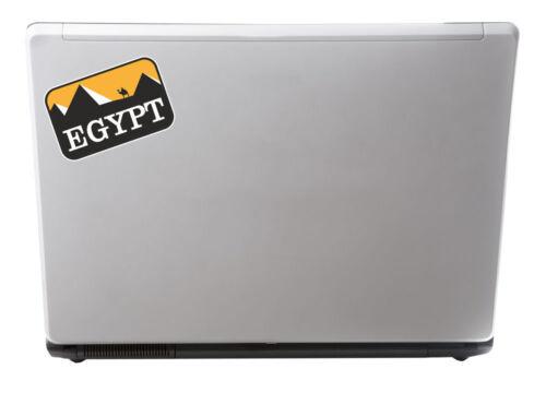 2 x Egypte autocollants en vinyle iPad Portable Voyage Bagages Balises pyramides cadeau amusant # 4351