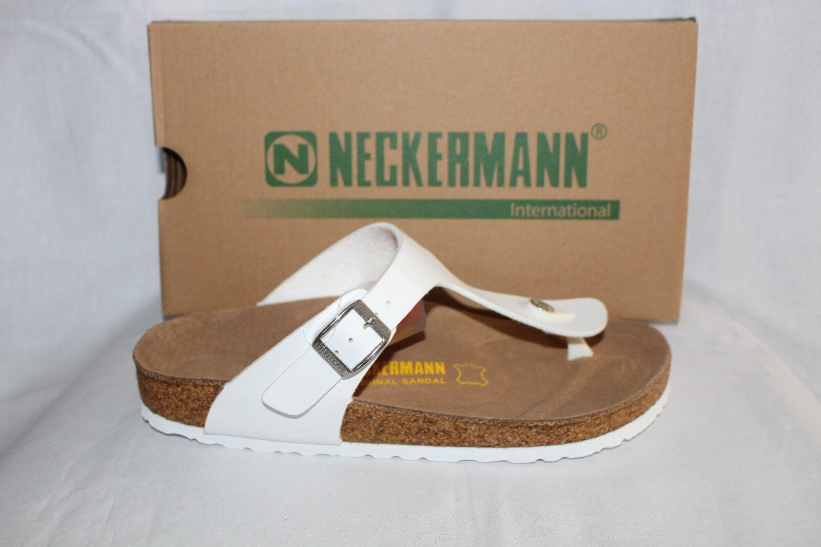 Damas Zapatos Zapatos Zapatos Calzado-Neckermann N2602 blancoo Tanga  venta caliente en línea