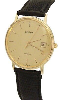 Vintage Tissot Seastar 14K Oro Amarillo Cuarzo 33mm Oro Esfera Reloj   eBay