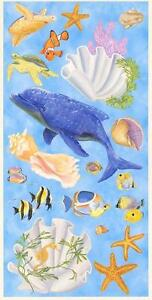 Wallpaper-Mural-Under-The-Sea-Life-Accent-Pieces-Cutouts-Dolphin-Fish-Seashells