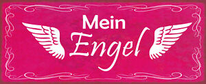 Mein Angel Tin Sign Shield Arched Metal 10 X 27 CM K1806