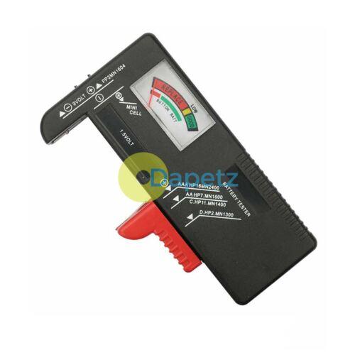 Testeur de Batterie Universel AA AAA C D 9V Bouton Cellule Checker Testeur Volt hot