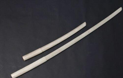 Wooden Oak Bokken Samurai Sword Set for Kendo Long and Short Set with Handguard