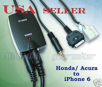 Iphone6 Iphone5 Ipod Smartphone To Honda 2002-2011 Fit Audio Cable Set