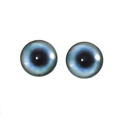 14mm Blue Cat or Dragon Glass Doll Eyes for Sculptures Jewelry Making Taxidermy