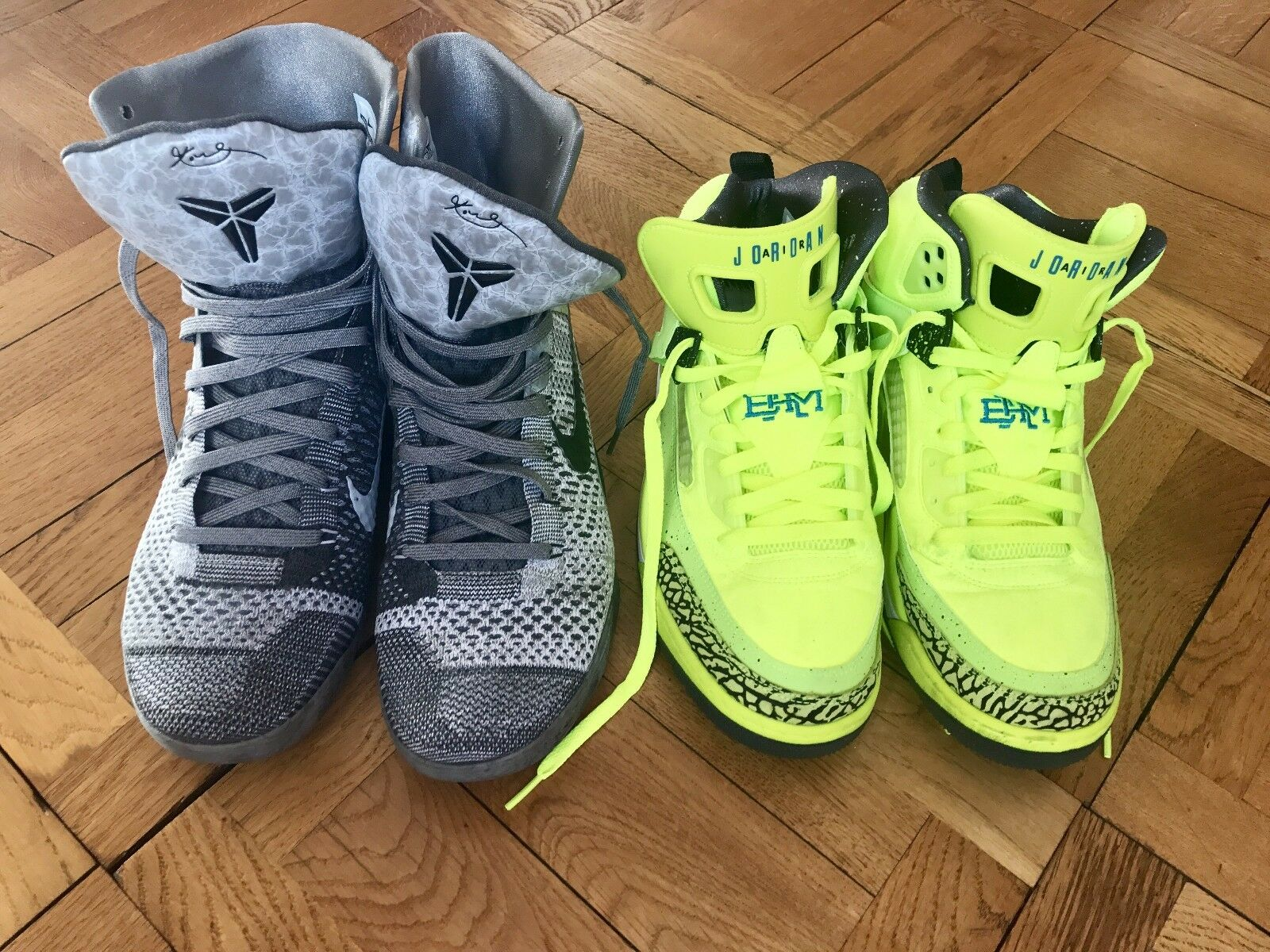 Nike lot Air Jordan Spizike Spike BHM volt + Nike Kobe 9 Elite - 630847 003 New shoes for men and women, limited time discount