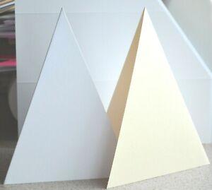 Abertura Oval tarjetas A6-Blanco paquete de 5