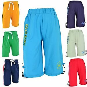 jungen kinder shorts bermuda 3 4 kurze hose sommer jungs knaben sport sporthose ebay. Black Bedroom Furniture Sets. Home Design Ideas