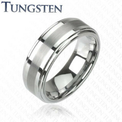 Tungsten Carbide Ring Matte Finish Center Size 9,10,11,12,13,14 (f63)