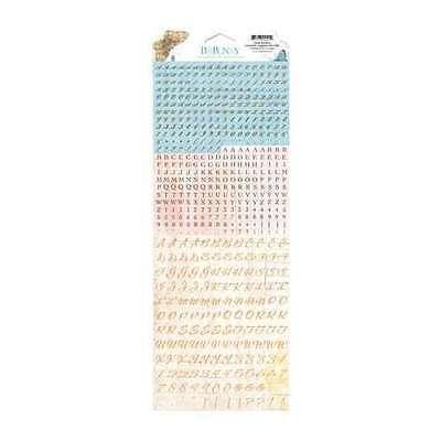 NEW BO BUNNY COUNTRY GARDEN  TINY TYPE CARDSTOCK STICKERS