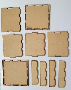 Zwei-Verschiedene-MDF-Boxen-Montieren-Dekoration-Dein-Eigenes-Kasten-Basteln