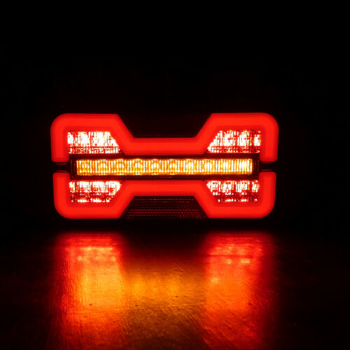 2x 12v 24v Glow-Track Led Neon Rear Dynamic Indicator Tail Lights Truck Trailer