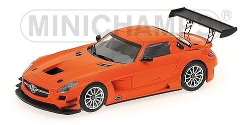 Mercedes - benz sls amg gt3 street Orange 2011 1 43 modell minichamps