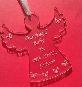 baby loss angel miscarriage sympathy keepsake memorial in memory