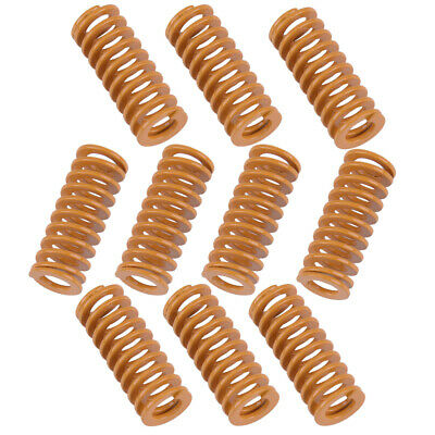 kang ing 8mm OD 20mm Long Light Load Compression Mould Die Spring Yellow 20pcs