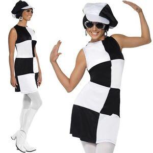 scarpe di separazione de404 762ba Dettagli su Donna 60s 1960s Party Girl Costume da donna anni'60 Outfit Da  Smiffys- mostra il titolo originale