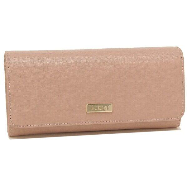Furla Classic XL Saffiano Leather Bi-Fold Wallet in Moonstone (Pink) NWT