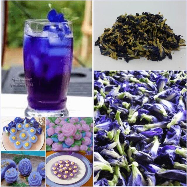 Original Thai Butterfly Pea Tea Pure Natural Dried Blue Flower Clitoria  Ternatea