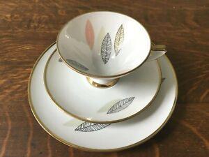 Vintage Winterling Roslau Bavaria Feather Design Luncheon Set Cup Saucer & Plate
