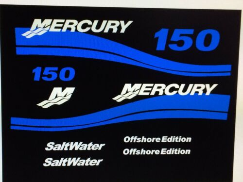 275 HP Offshore set   Marine vinyl BLUE Mercury Outboard 150 hp