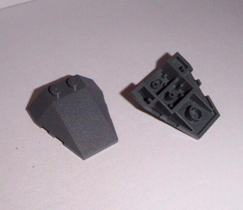 2 Keilsteine 4x4x1 Lego 48933 in dunkelgrau aus 10195 8017 75096 7017 10240