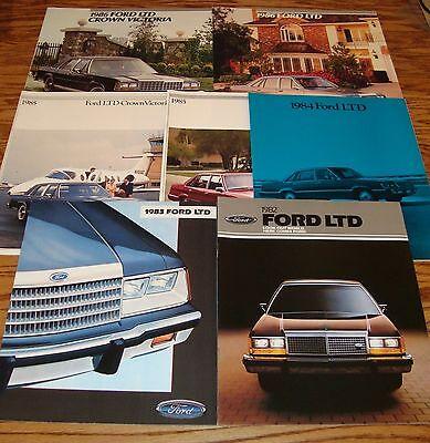 1983 FORD LTD CROWN VICTORIA BROCHURE /'83 SALES CATALOG