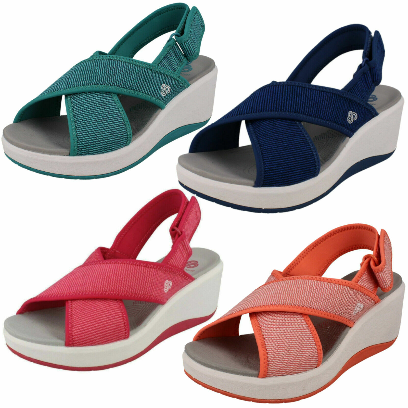 Womens Clarks 'step Cali Cove' cloudsteppers casual wedge sandals-wide