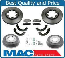 For 89-95 Pathfinder Frt Disc Brake Rotors Pads Brake Drums Brake Shoes Springs