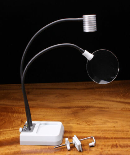 """PRO LITE LED 18/"""" Light  Lamp Magnifier Fly Tying Hobby Pedistal /& C-Clamp New"""