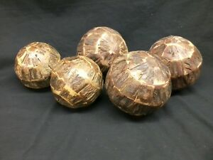 """Driftwood Decorative Ball Orb 6/"""" Sphere Table Top Centerpiece Nautical Home"""