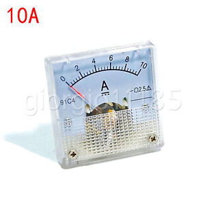US-Stock-DC-0-10A-Analog-AMP-Current-Pointer-Needle-Panel-Meter-Ammeter-91C4