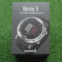 Garmin Fenix 3 Multi-sport Training Gps Watch - Grey With Black Band -