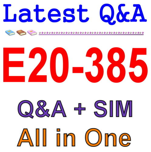 EMC Best Practice Exam Material for E20-385 Exam Q/&A PDF+SIM