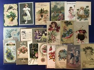 Very-Nice-20-034-Made-In-Germany-034-Birthday-Antique-Postcards-For-Collectors-w-Value