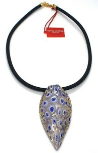 Necklace-Antica-Murrina-Venezia-CO141A06-Tail-Peacock-Feather-Pendant-Murano