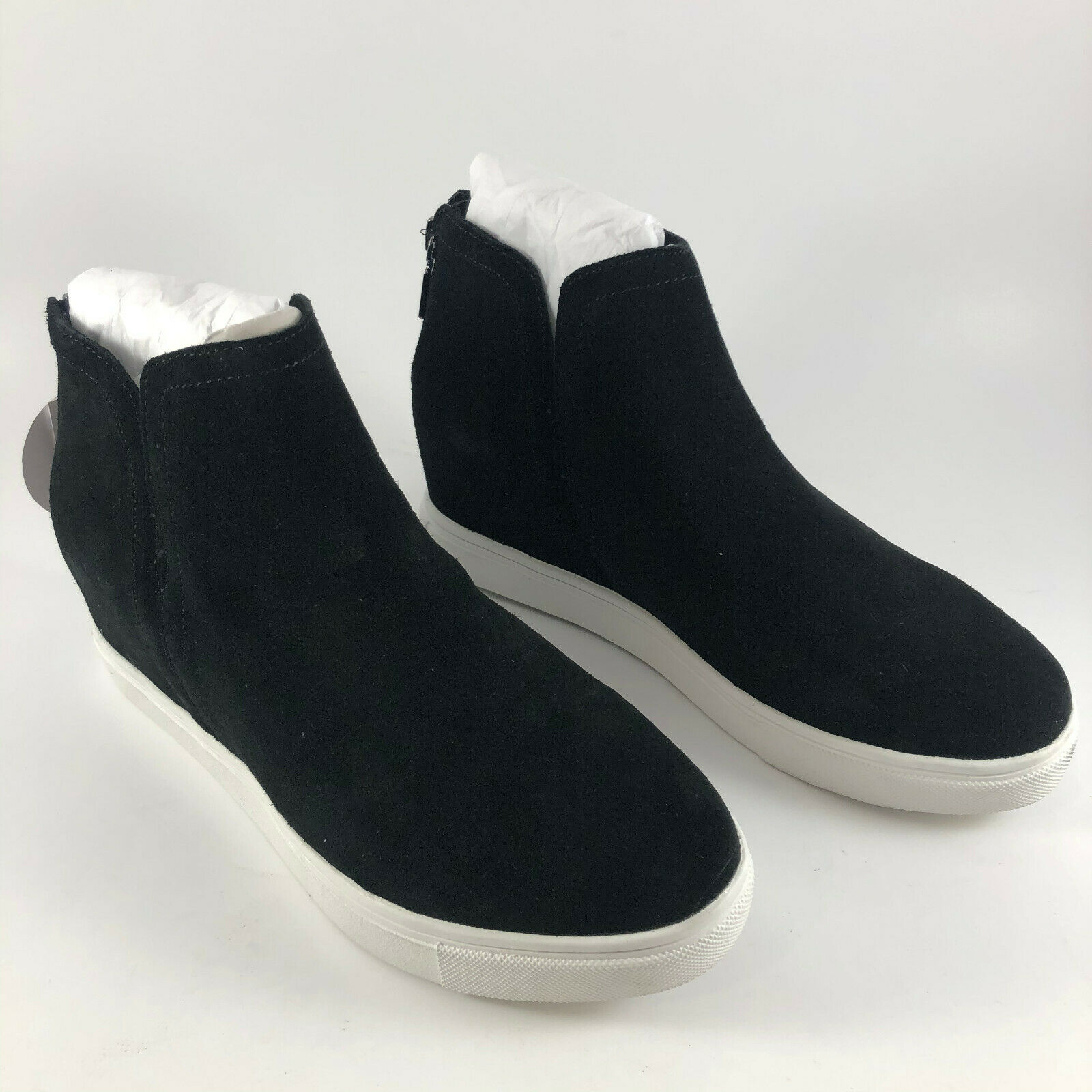 Blondo Women's GENNA Wedge Sneaker Black Suede Leather - Size 7