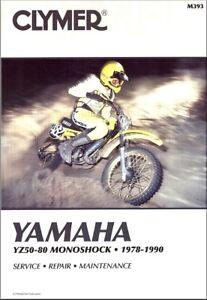 1978 1990 yamaha yz 50 60 80 yz50 yz60 yz80 clymer repair manual rh ebay com Piston Yz 60 Piston Yz 60