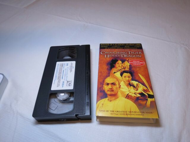 Crouching Tiger, Hidden Dragon (VHS, 2001, English Dubbed) movie Tape VHS