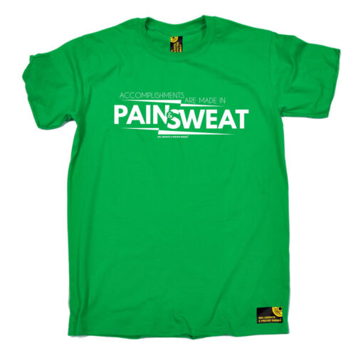 Accomplishments Made In Pain /& Sweat MENS SWPS T-SHIRT birthday gym fitness