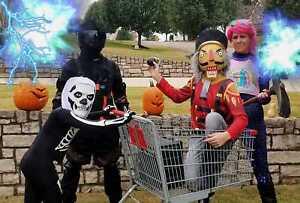 Spirit Halloween Fortnite Costumes For Kids.Details About Fortnite Skull Trooper Child Costume Spirit Halloween Youth Medium 8 10