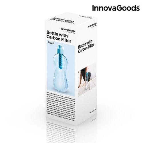 Trinkflasche mit Kohleaktivfilter Carbon Filter Bottle gegen Chlor Schadstoffe