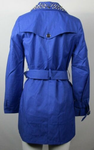 Trench Edelman Coat Kvinder S Lorissa Studded Sam 885873232716 Cotton Blue Collar Blend Indigo pgA0q