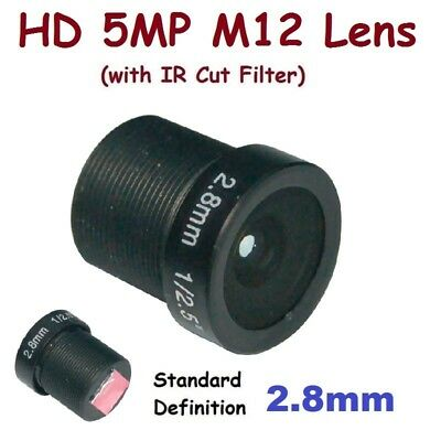 "Sunvision 1//2.5/"" HD 5MP Monofocal 8.0mm 40° M12 Board Lens IR Cut Filter FPV"