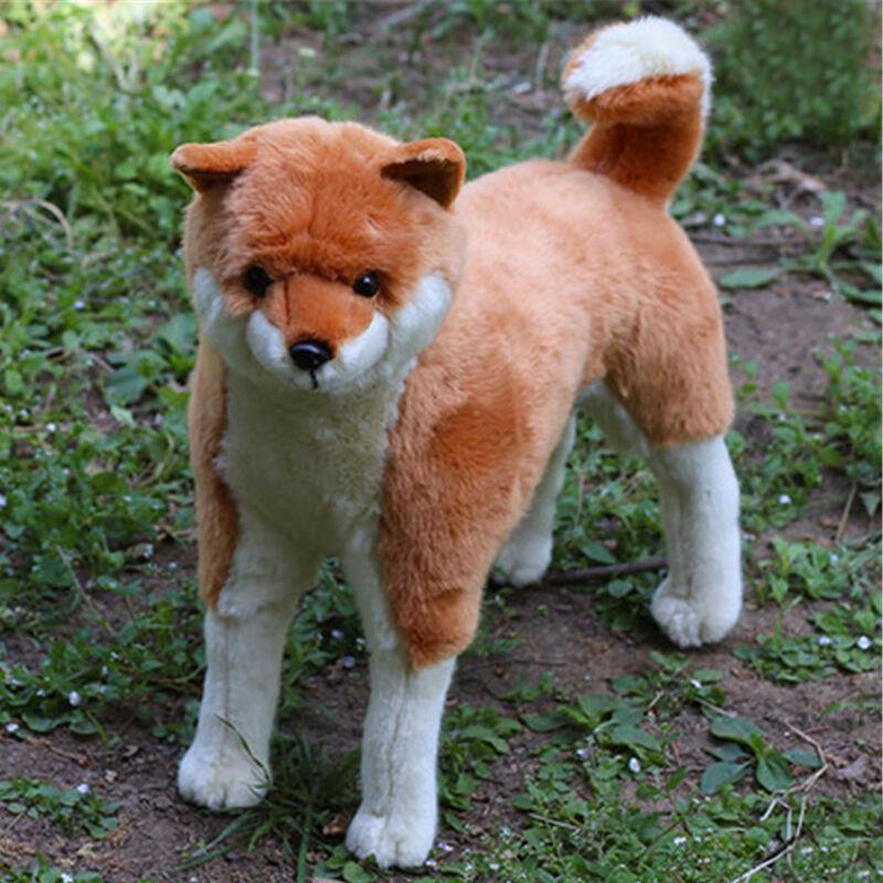 Simulated Animal Shiba Inu Plush Toy Big Stuffed Emulation Akita Dogs Doll 42cm